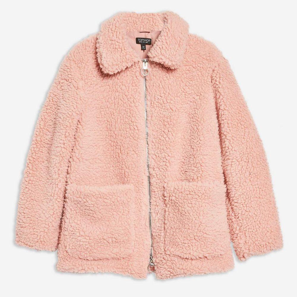 Topshop fluffy coat