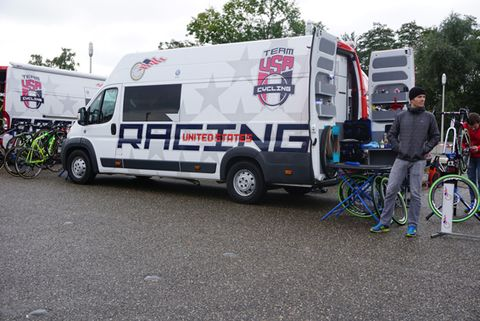 USA Cycling Van