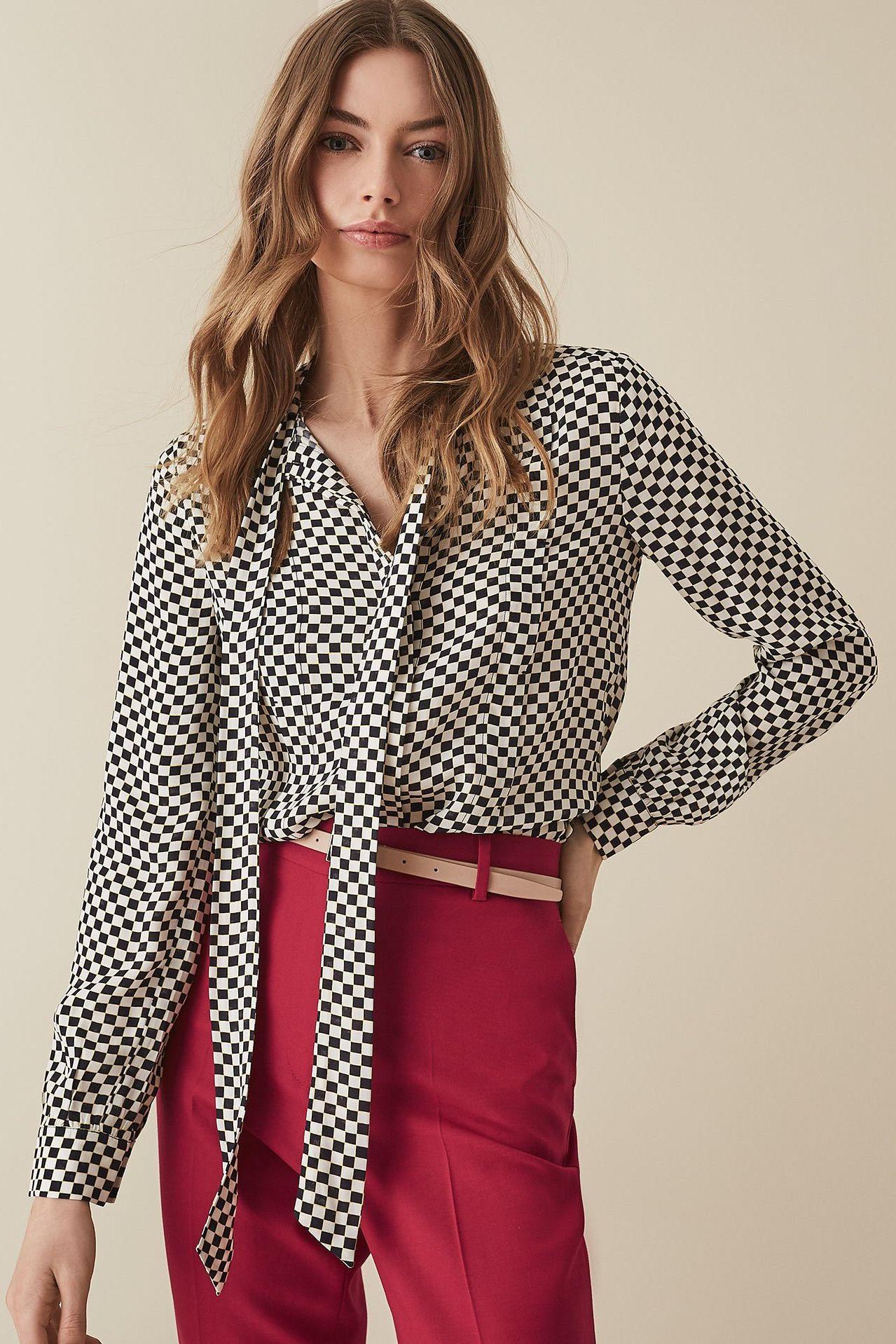 Caylee printed blouse Reiss