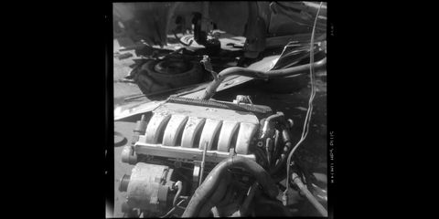 junkyard engines photographed with argus 75 film camera