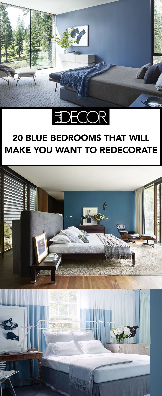 Best Blue Bedrooms Blue Room Ideas - Blue bedroom designs