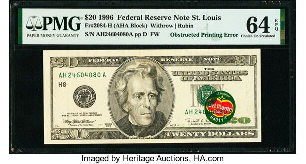 This  Bill Is Selling For More Than 0,000 At Auction Because It Has A Del Monte Banana Sticker On It