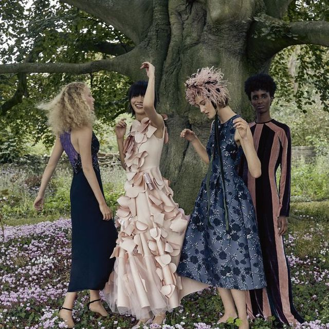 People in nature, Dress, Spring, Botany, Fashion, Gown, Flower, Plant, Wedding dress, Woodland,