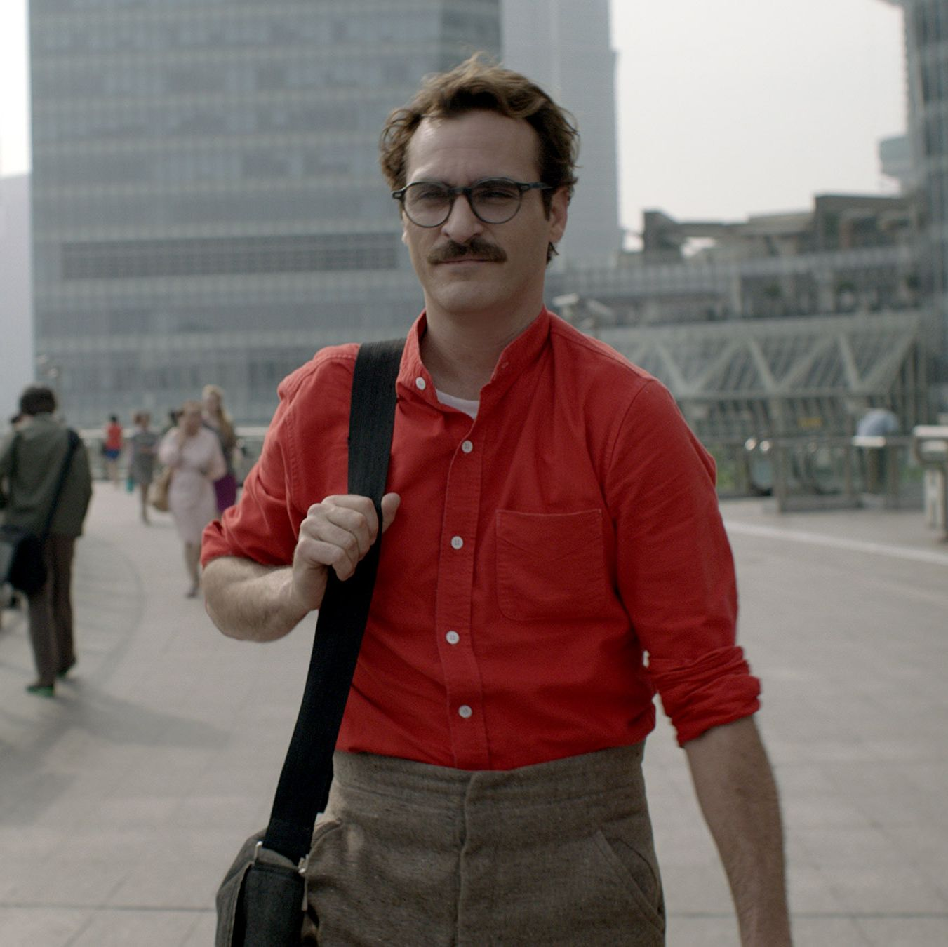 Her Writer-director Spike Jonze's futurist satire sees a lonely man (played by Joaquin Phoenix) falling in love with his AI assistant (voiced by Scarlett Johansson).