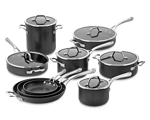 Cookware and bakeware, Stock pot, Product, Frying pan, Saucepan, Sauté pan, Metal,