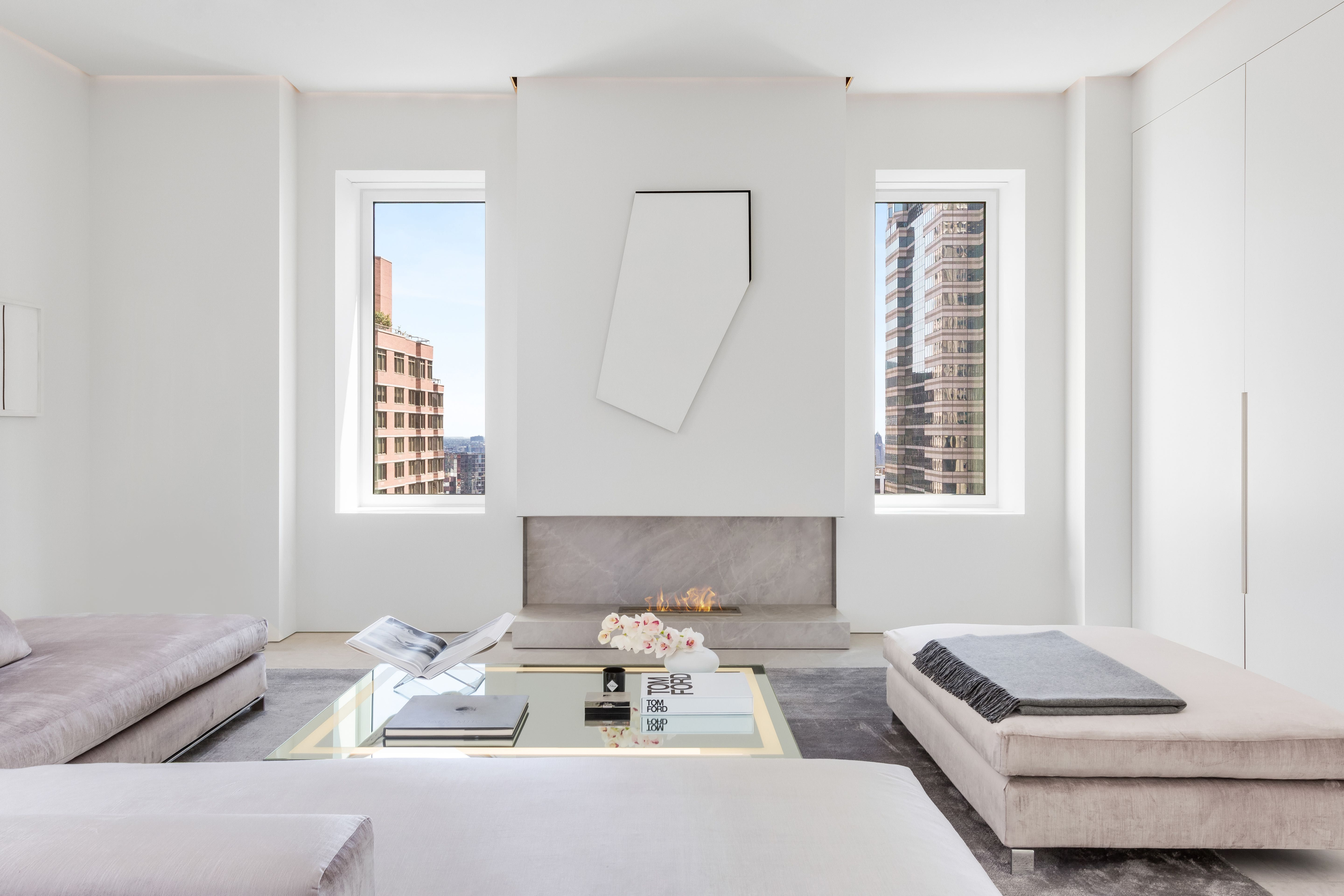 Fashion Designer Jeffrey Dodd's Downtown Manhattan Penthouse is a Study in White