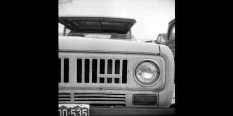 1954 ricohflex tlr shoots junkyard cars in colorado