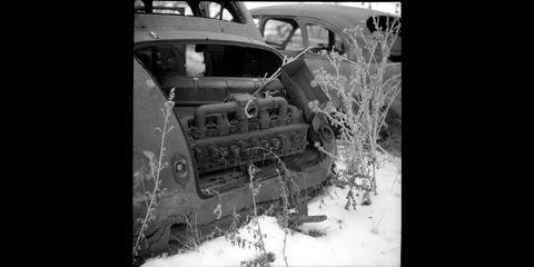 colorado junkyard photographed with voigtlander superb film camera