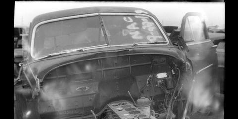 Denver junkyard photographed with Vest Pocket Kodak camera