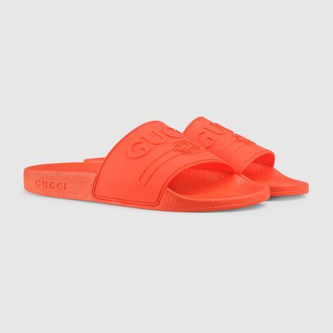 Footwear, Orange, Slipper, Shoe, Sandal, Flip-flops,