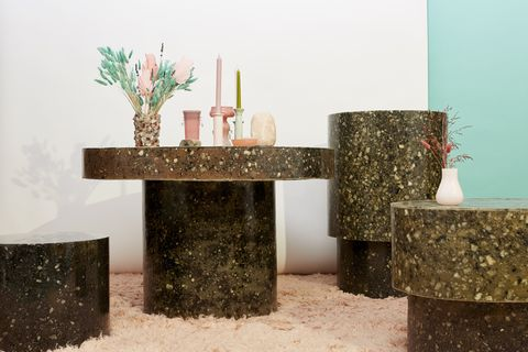 swedish stocking sustainable table design made from recycled tights waste textiles