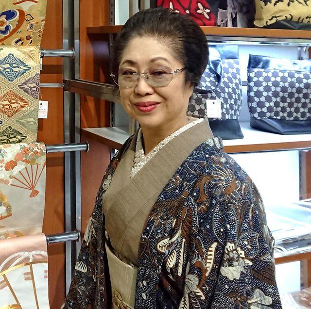 「時代布と時代衣裳 池田」店主・池田由紀子さん