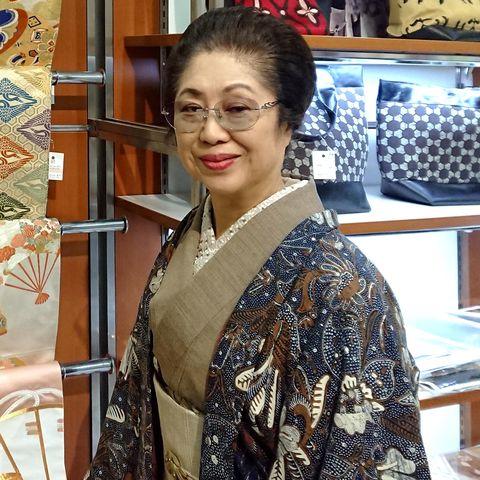 池田由紀子,着物,ヴィヴァーチェ,美しいキモノ,アンティーク,帯,帯留