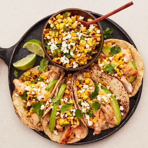 mexican street corn grilled chicken tacos