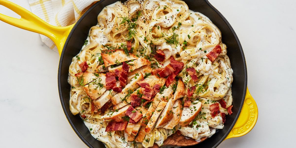 One Pan Ranch Chicken Alfredo