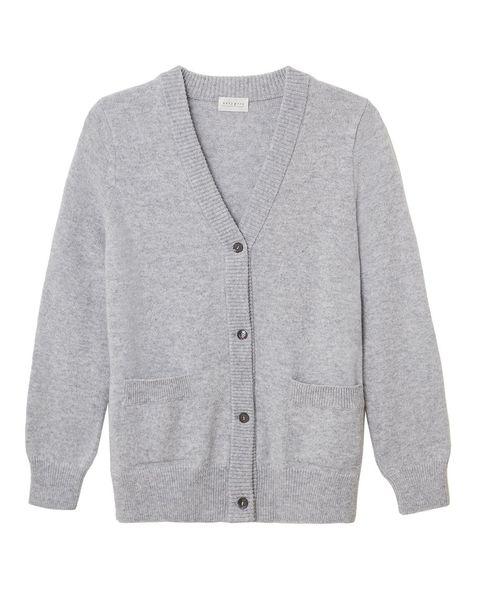 navy grey knitted cardigan knitwear