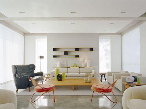 modern scandinavian style living room southampton home