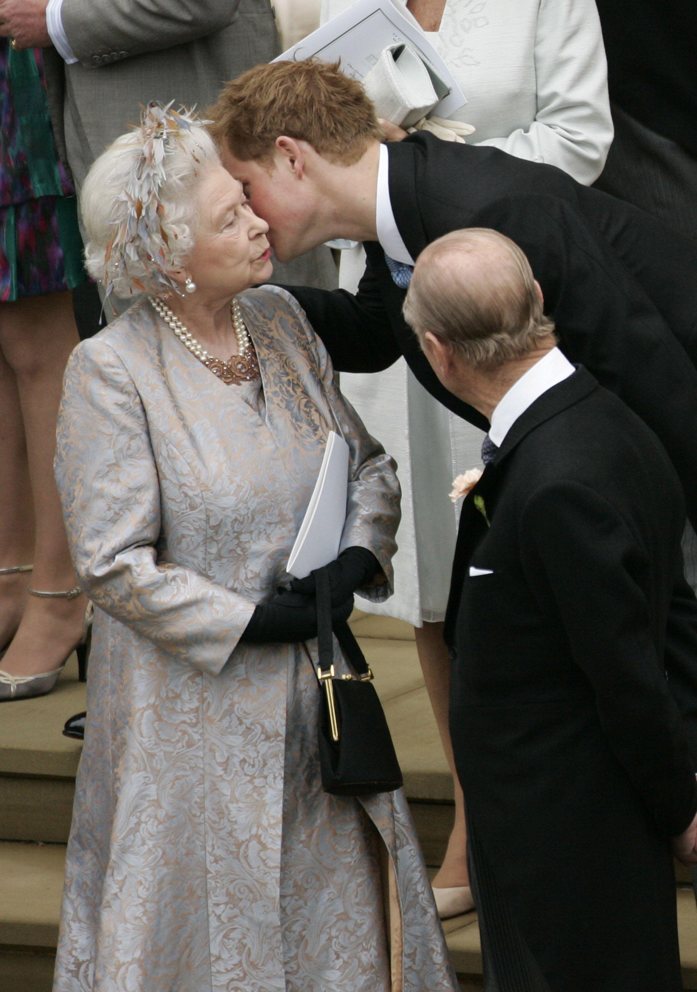 Image result for prince harry queen elizabeth