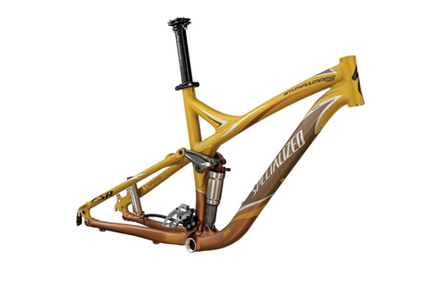 2008 stumpjumper fsr pro frame with brain and in house designed shock