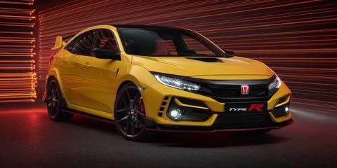 Land vehicle, Vehicle, Car, Automotive design, Mid-size car, Yellow, Hatchback, Hot hatch, Full-size car, Honda,