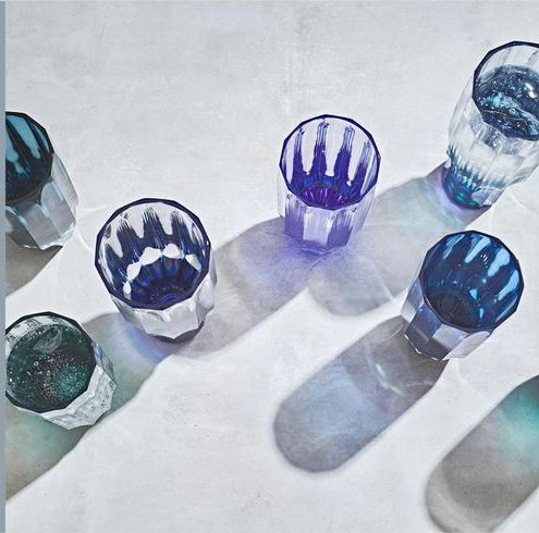 Aqua, Teal, Turquoise, Electric blue, Cobalt blue, Natural material, Reflection, Paint, Brand, Ceramic,