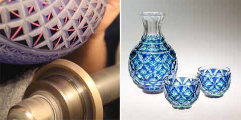Blue, Serveware, Glass, Drinkware, Dishware, Porcelain, Pottery, Majorelle blue, Ceramic, Artifact,