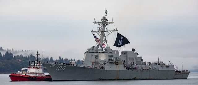 200921 n vq841 1014 everett, wash sep 21, 2020 guided missile destroyer uss kidd ddg 100 pulls into its homeport of naval station everett nse uss kidd is returning following the ship's deployment to the us 4th fleet area of operations us navy photo by mass communication specialist 3rd class ethan sotoreleased