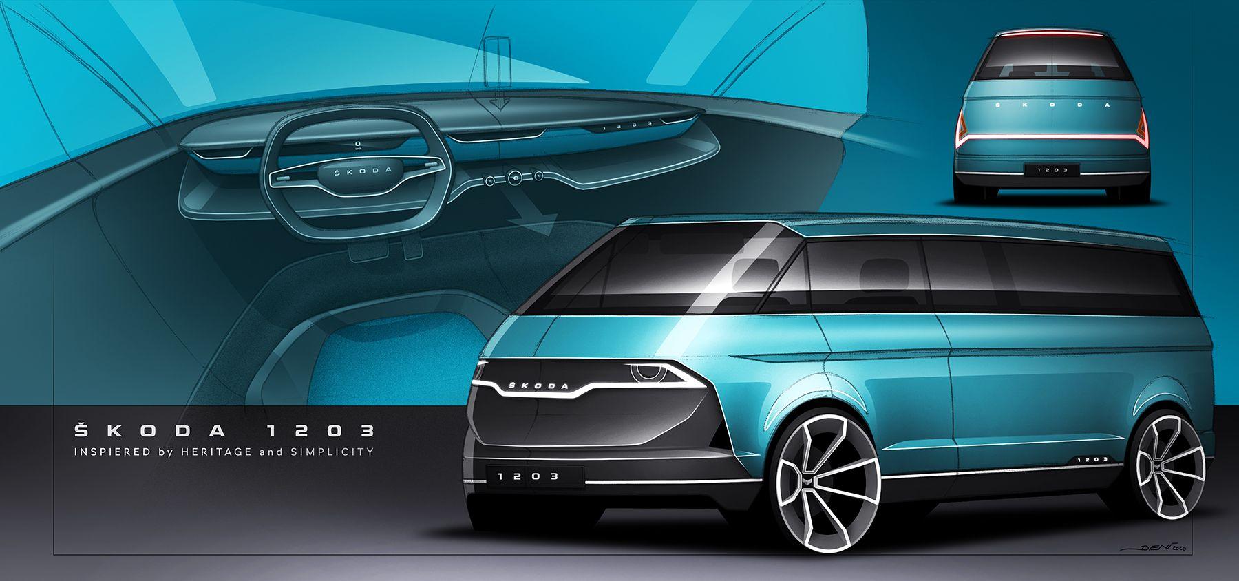 Skoda 1203 Concept Sketch Reimagines A Czech Classic With Ev Potential