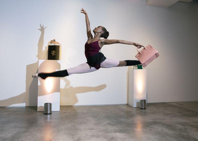 new york city ballet x sotheby's, choreography by peter walker featuring dancers india bradley and sebastian villarini velez november 30, 2020 credit photo erin baiano