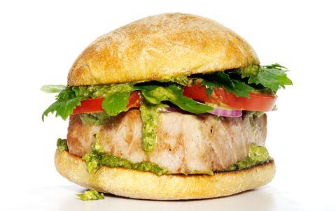 Pesto Tuna Burger