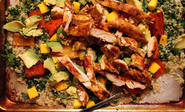 Chow On Blackened Chicken And Quinoa Salad Men S Health