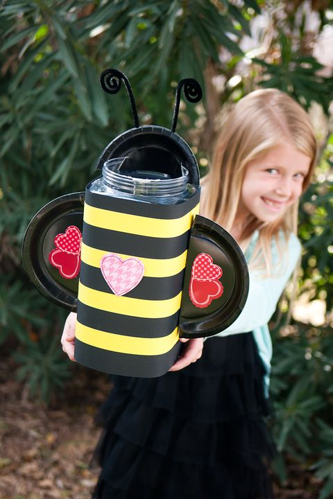 diy valentine's day boxes bumble bee