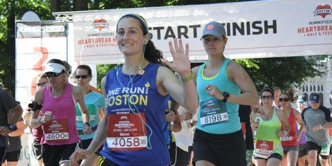 Start of the 10K at the 2014 Heartbreak Hill weekend