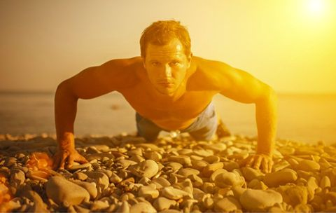 The Fat-Torching Interval Workout You Can Do at the Beach