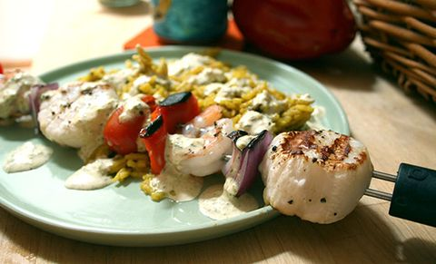 The Easy Way to Grill Shrimp and Scallops