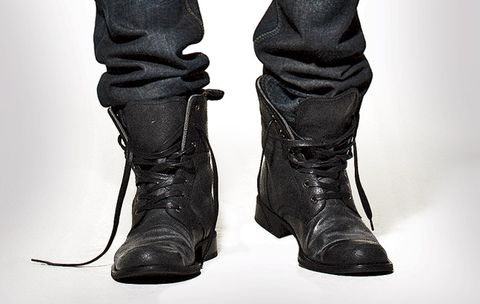 568c99fb9b103d Wearing your denim inside your boots is a stylish move, but it started out  as a practical one. 19th-century frontiersmen and cowboys would tuck their  pants ...