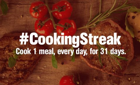 Take the 2015 #CookingStreak Challenge!
