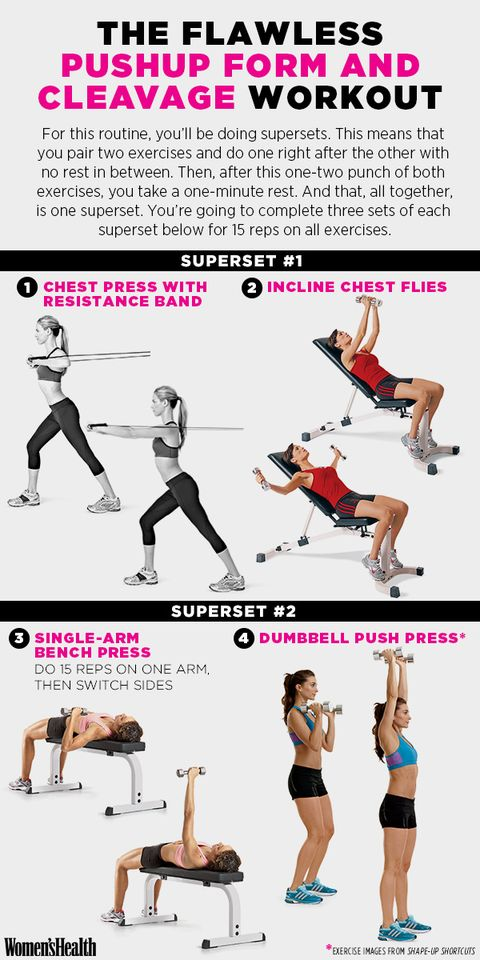 do this workout for kickass pushup form and cleavage you ll want to