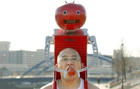 Finally, the Wearable Robot That Feeds You Tomatoes While You Run That We've Been Waiting For