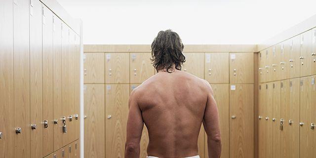 football room men naked locker