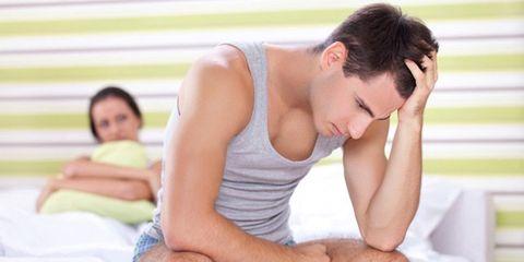 guy suffering premature ejaculation