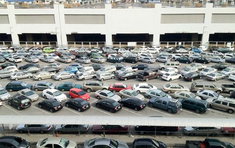 The Best Way to Find a Spot in a Crowded Parking Lot