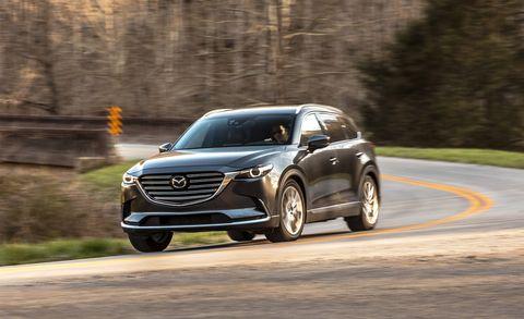 Land vehicle, Vehicle, Car, Mazda, Automotive design, Mid-size car, Crossover suv, Sport utility vehicle, Mazda cx-9, Compact sport utility vehicle,