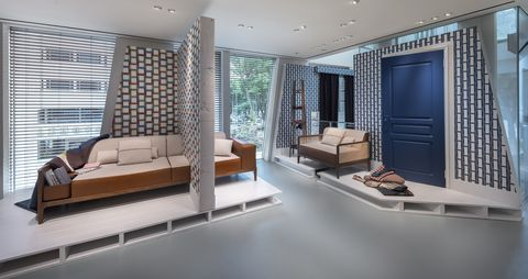 Property, Room, Interior design, Furniture, Living room, Building, House, Real estate, Floor, Bedroom,