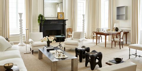 Living room, Room, Furniture, Interior design, Property, Coffee table, Building, Table, Suite, Curtain,