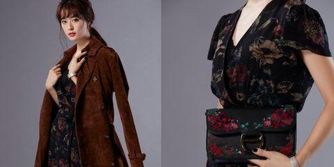 Clothing, Outerwear, Dress, Sleeve, Fashion, Day dress, Fashion design, Fashion model, Pattern, Velvet,