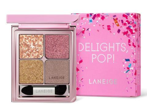 Eye shadow, Pink, Eye, Product, Cheek, Organ, Face powder, Cosmetics, Human body, Powder,