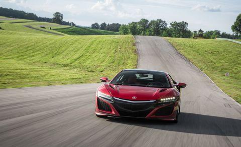 Land vehicle, Vehicle, Car, Automotive design, Red, Performance car, Sports car, Honda, Supercar, Transport,