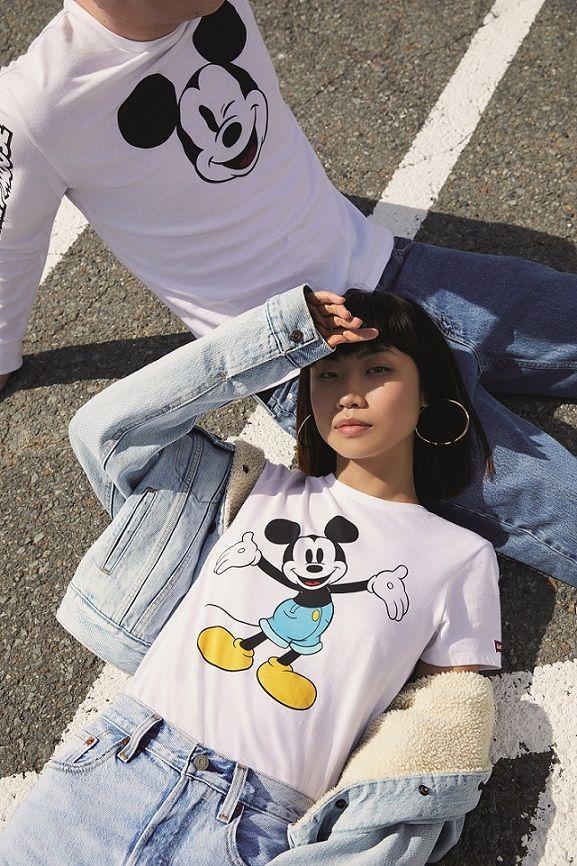 米奇,迪士尼,米奇90週年,MICKEY x LEVI'S,聯名系列,LEVI'S,牛仔褲,大學T