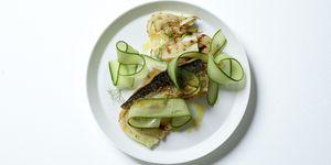 Mackerel fennel and cucumber salad